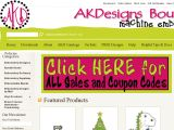 AK Designs Boutique Machine Embroidery Coupon Codes