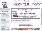 Paganstuffcheap.com Coupon Codes