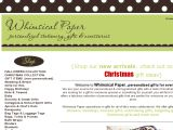 Whimsical Paper Coupon Codes