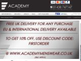 Academymenswear.co.uk Coupon Codes